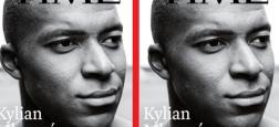 """La star du PSG et de l'équipe de France Kylian Mbappé en Une de l'édition internationale du """"Time"""""""