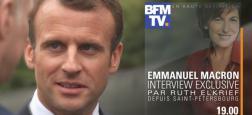 Emmanuel Macron sera l'invité de Ruth Elkrief vendredi à 19h sur BFMTV pour une interview depuis Saint-Pétersbourg