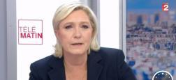 """Témoignage d'un faux journaliste de France Télévisions: Marine Le Pen affirme que c'était """"une parodie"""" et non pas """"une fake news"""""""