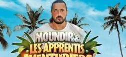 """Audiences télé-réalité: A 19h50, l'épisode inédit de """"Moundir et les apprentis aventuriers"""" à 735.000 téléspectateurs sur W9"""