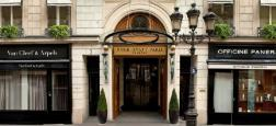 """Une centaine de personnes ont manifesté devant l'hôtel Park Hyatt Vendôme à Paris, en soutien aux """"petites mains"""" de cet établissement de luxe"""