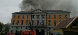 Important incendie à l'hôtel de ville d'Annecy en Haute-Savoie - Le feu a pris dans une armoire électrique et s'est propagé - Regardez