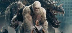 """Le film """"Rampage - Hors de contrôle"""", avec Dwayne Johnson, prend la tête du box-office nord-américain"""