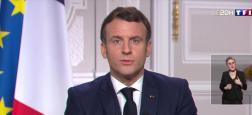 """Audiences 20h: 17 millions de téléspectateurs sur """"les chaînes historiques"""" hier soir pour les voeux traditionnels d'Emmanuel Macron pour 2021 depuis le Palais de l'Elysée"""