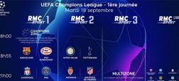 Le Groupe Canal+ et SFR signent un accord pour la distribution des chaînes RMC Sport in extremis avant le  début ce soir de la Ligue des champions de football