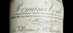 Record absolu pour une bouteille de vin: Un millésime 1945 de Romanée-Conti vient d'être adjugé par Sotheby's pour 482.000 €