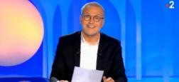"""Audiences 2e PS - Laurent Ruquier en hausse sur une semaine avec """"On n'est pas couché"""" sur France 2 et quasiment 900.000 téléspectateurs"""