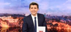 Audiences: Le 20h de France 2, présenté par Thomas Sotto, devant celui de TF1 d'Audrey Crespo-Mara avec 3,8 millions de téléspectateurs