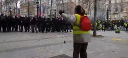 Gilets jaunes: La vidéo d'un homme, bras écartés sur les Champs Elysées, qui se fait tirer dessus par les CRS visionnée 1,5 million de fois - Vidéo