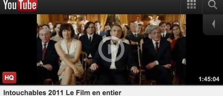 """Youtube Film Entier Gratuit En Français exclu: le film """"intouchables"""" mis en ligne illégalement cette nuit"""
