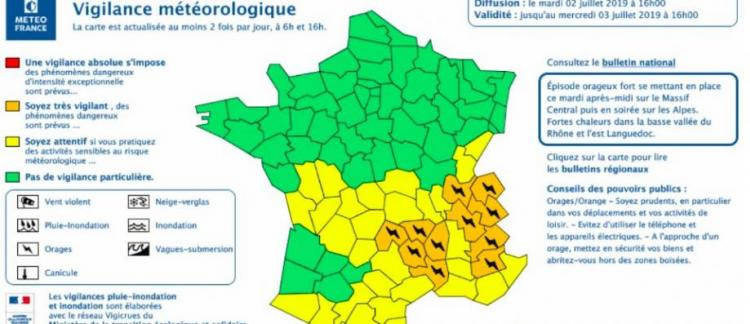 Orages Météo France Place Désormais 11 Départements En