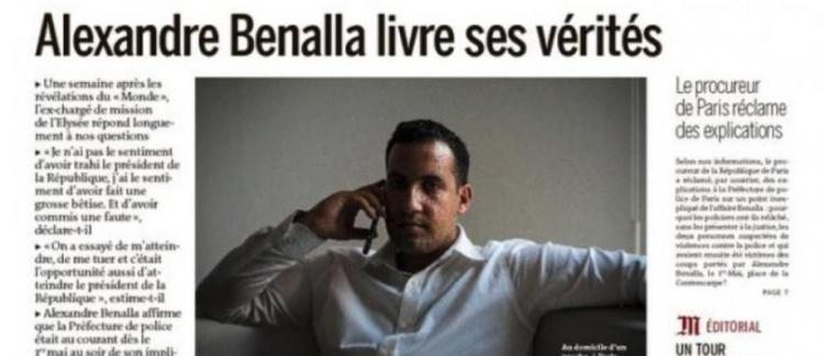 Alexandre Benalla S Exprime Pour La 1ere Fois Dans Le Monde