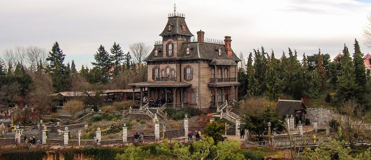 maison hantee parc d'attraction