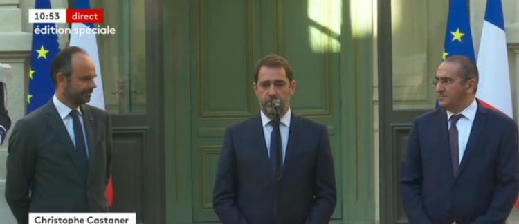 en direct remaniement christophe castaner le nouveau ministre de l intrieur indique que pour ce gouvernement la scurit est un enjeu majeur