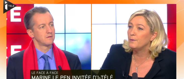 50d0f9dc9ca Incident sur iTélé entre Marine le Pen et le patron de l Express ...