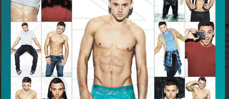 Calendrier Gay.Nouvelle Egerie Gay Le Champion Olympique Britannique Tom