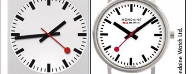 la marque suisse de montres mondaine accuse apple de plagiat. Black Bedroom Furniture Sets. Home Design Ideas