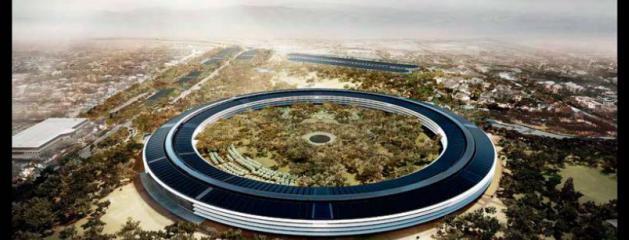d couvrez l 39 incroyable si ge que veut construire apple aux usa sur 60 hectares pour 5 milliards. Black Bedroom Furniture Sets. Home Design Ideas